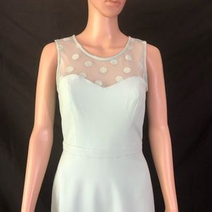 LC Lauren Conrad Dresses - LC Lauren Conrad Dress Mint Green Illusion Necklin
